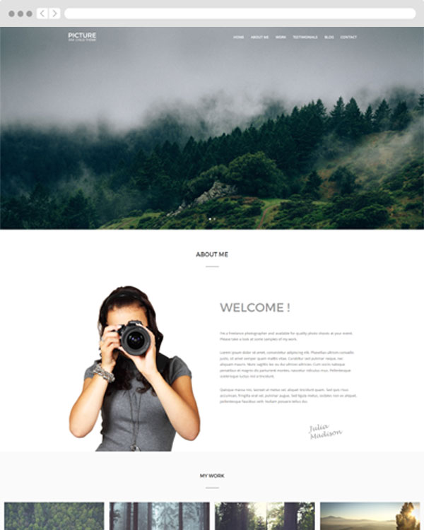 Picture Divi child theme