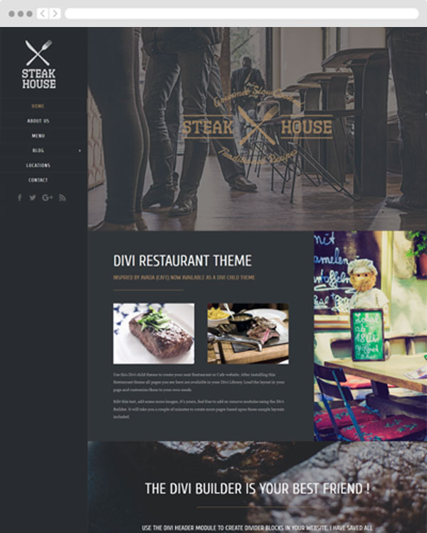 Restaurant Divi child theme